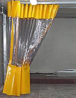 Штора ПВХ с прозрачной вставкой 2,0*9,0 м