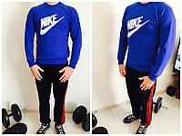 Брэндовый мужской реглан  Nike  в синем цвете утепленный