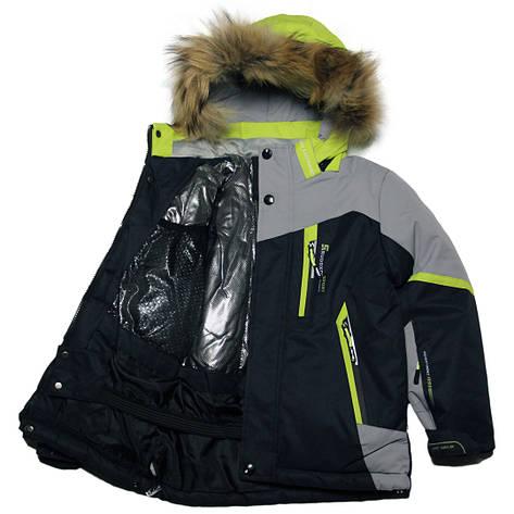 Детская зимняя яркая термокуртка Omni-Heat  для мальчика 104-128 синяя, фото 2