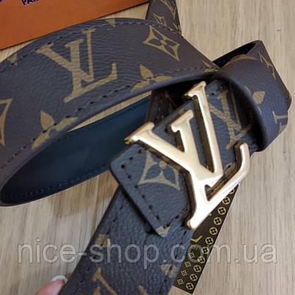 Ремень Louis Vuitton кожаный, цвет фурнитуры- золото, фото 2