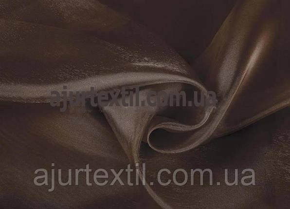 Тюль микровуаль темно коричневая, фото 2