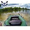Надувная лодка Ладья ЛТ-220-ДЕС двухместная гребная лодка пвх 850 полуторка слань-коврик сдвижное сиденье, фото 3