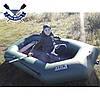 Надувная лодка Ладья ЛТ-240 двухместная гребная лодка пвх для рыбалки баллоны 37 надувний гребний човен гумови, фото 2