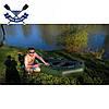 Надувная лодка Ладья ЛТ-240 двухместная гребная лодка пвх для рыбалки баллоны 37 надувний гребний човен гумови, фото 3