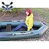 Надувная лодка Ладья ЛТ-240А-ЕСТ двухместная гребная лодка пвх ТРАНЕЦ слань-коврик сдвижное заднее сиденье, фото 2