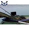 Надувная лодка Ладья ЛТ-240А-ЕСТ двухместная гребная лодка пвх ТРАНЕЦ слань-коврик сдвижное заднее сиденье, фото 7