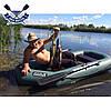 Надувная лодка Ладья ЛТ-240А-С двухместная гребная лодка пвх слань-коврик надувний гребний човен гумовий, фото 2