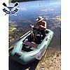 Надувная лодка Ладья ЛТ-240А-С двухместная гребная лодка пвх слань-коврик надувний гребний човен гумовий, фото 3