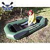 Надувная лодка Ладья ЛТ-240А-С двухместная гребная лодка пвх слань-коврик надувний гребний човен гумовий, фото 5