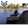 Надувная лодка Ладья ЛТ-240-ЕСБ двухместная гребная лодка пвх слань-коврик брызгоотбойник баллоны 37 сдвиж сид, фото 3