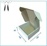 БІЛА картонна крафт-коробка 150x150x85 Самозбірна коробка для пакування товарів оформлення подарунків 10 шт/уп