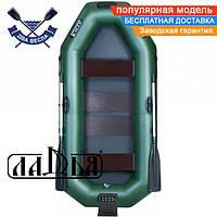 Надувная лодка Ладья ЛТ-250А-СТ двухместная гребная лодка пвх ТРАНЕЦ слань-коврик надувний гребний човен