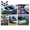 Надувная лодка Ладья ЛТ-250-ЕСБ двухместная гребная лодка пвх слань-коврик брызгоотбойник баллоны 37 сдвиж сид, фото 6