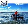 Надувная лодка Ладья ЛТ-250-ЕСБ двухместная гребная лодка пвх слань-коврик брызгоотбойник баллоны 37 сдвиж сид, фото 9