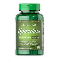 Спирулина Puritan's Pride Spirulina 500 mg (200 таб) пуританс прайд