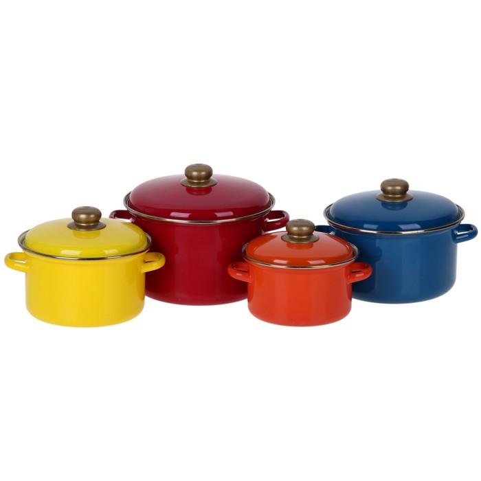 Набор эмалированной посуды Эмаль Палитра 4 предмета