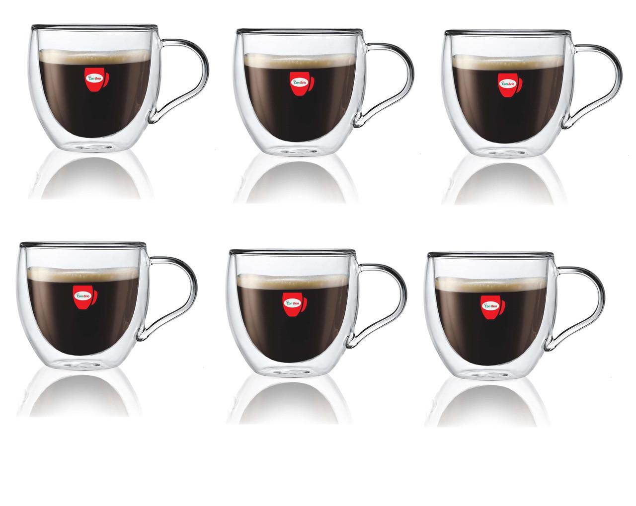Набор чашек Con Brio с двойными стенками 250 мл упаковка 6 шт (СВ-8625 )