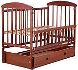 Кровать Наталка ОТМЯО маятник и ящик, откидной бок  ольха темная, фото 2