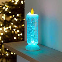 Светодиодная USB лампа с блестками в форме свечи Sequinned LED Candle