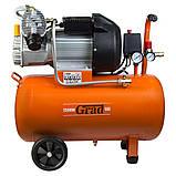 Компресор Grad V 2.5 кВт 50л (2 крана), фото 2