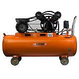 Компресор ремінною V 2.5 кВт 100л (2 крана) Grad (7044185) + Набір лакофарбовий 5шт з/б GRAD, фото 6