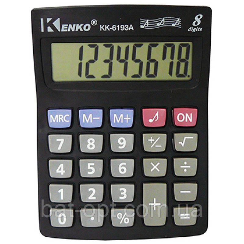 Калькулятор карманный Kenko 6193A 8-разрядный (138х103х26мм)