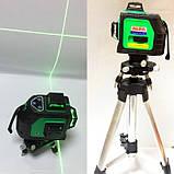 Лазерний рівень нівелір AL-FA ALNL-3DG | 12 лазерних ліній (3 площини) + точка схилу, фото 4