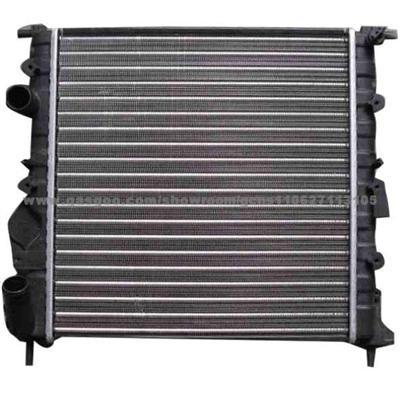 Радиатор охлаждения Skoda Octavia 2005- (2.0 TDI-TFSI) 650*445мм плоские соты KEMP