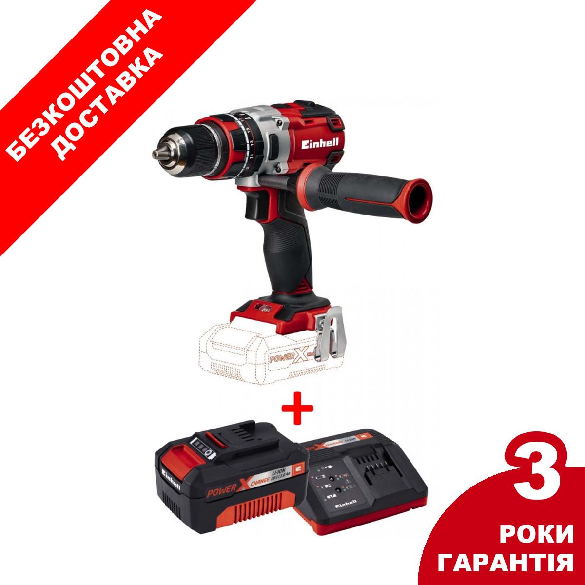 Набір ударний шуруповерт безщітковий Einhell TE-CD 18 Li-i Brushless - Solo + зарядний пристрій і аккумулято