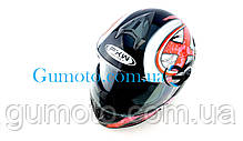 Шлем для мотоцикла Hel-Met 122 черный с красным размер S/M, фото 3