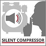 Компресор Einhell TE-AC 6 Silent (4020600) + Набір лакофарбовий 5шт з/б GRAD, фото 6