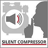 Компрессор Einhell TE-AC 6 Silent (4020600) + Набор лакокрасочный 5шт с в/б GRAD, фото 6
