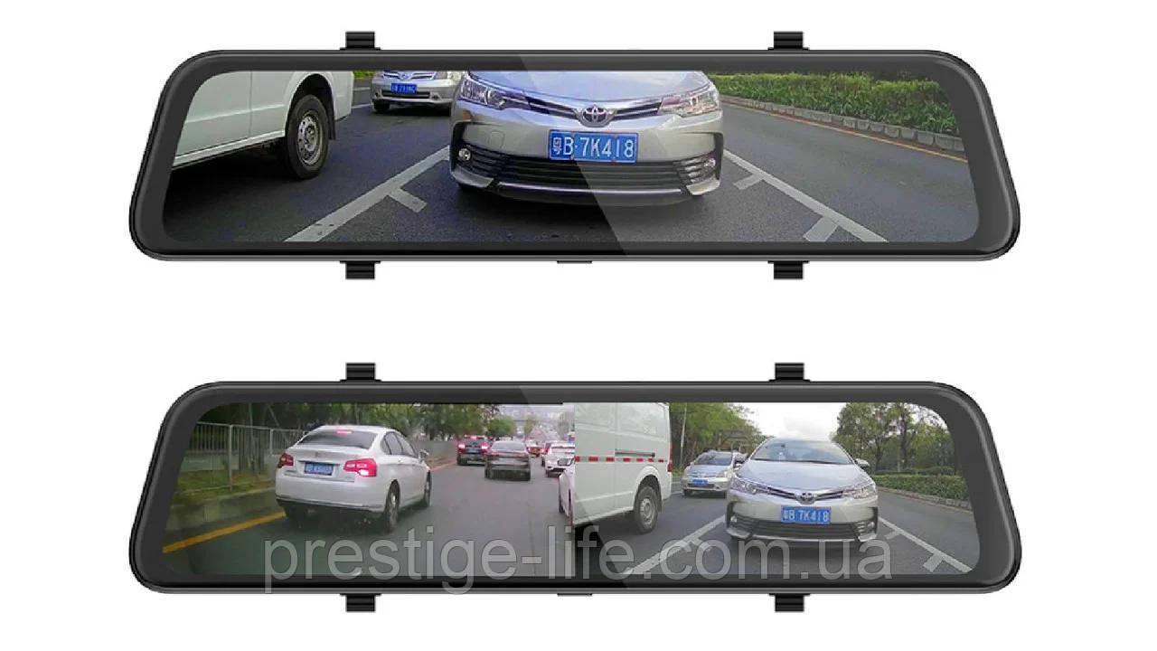 """Автомобільне дзеркало-відеореєстратор K40 (Android) 1/8 (LCD 10"""", GPS)"""