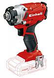 Набір ударна викрутка Einhell TE-CI 18 Li Solo + зарядний пристрій і акумулятор 18V 2,5 Ah, фото 2
