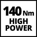 Набір ударна викрутка Einhell TE-CI 18 Li Solo + зарядний пристрій і акумулятор 18V 2,5 Ah, фото 10