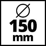 Угловая бесщеточная шлифмашина Einhell TE-AG 18/150 Li BL - Solo Ø150 мм New (4431144), фото 7