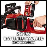 Пила ланцюгова безщіткова Einhell GE-LC 36/35 Li-Solo + зарядний пристрій і 2 акумулятора 18V 4,0 Ah, фото 6