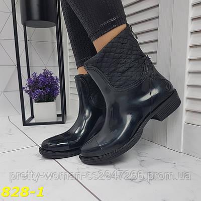 Півчобітки непромокальні черевики гумові утеплені зі змійкою ззаду