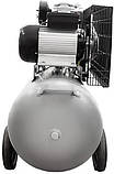 Компрессор двухцилиндровый ременной 2.5кВт 396л/мин 10бар 100л + набор лакокрасочный, фото 4