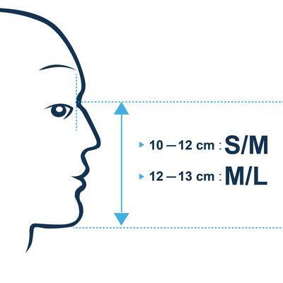 Полнолицевая маска Subea Easybreath NEW для снорклинга (цвет синий)