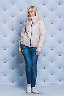 Куртка женская короткая демисезонная беж