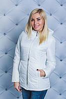 Куртка женская на синтепоне весна-осень белая