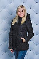 Куртка женская на синтепоне весна-осень черная