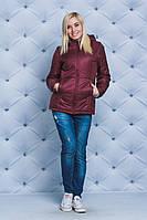 Куртка женская на синтепоне весна-осень бордо