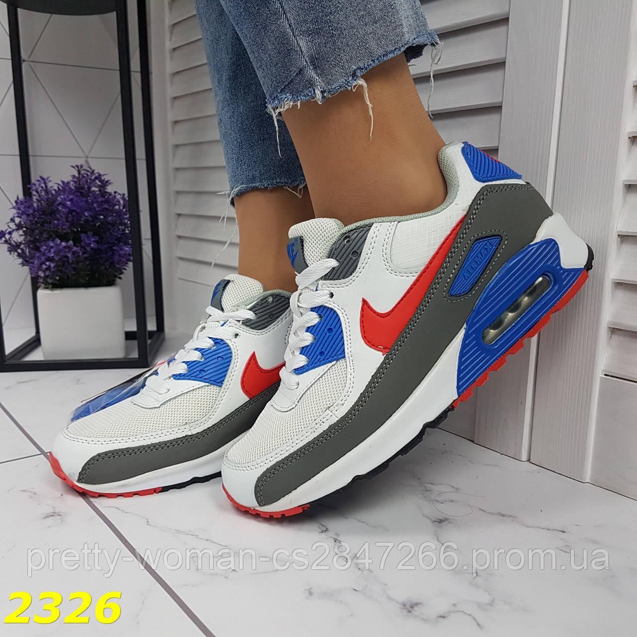 Кроссовки белые с синим с компенсатором