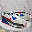 Кроссовки белые с синим с компенсатором, фото 7