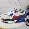Кроссовки белые с синим с компенсатором, фото 6