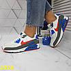 Кроссовки белые с синим с компенсатором, фото 3
