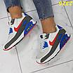 Кроссовки белые с синим с компенсатором, фото 4