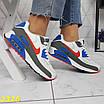 Кроссовки белые с синим с компенсатором, фото 2